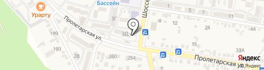 Березка на карте Железноводска