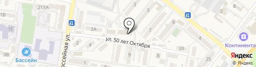 Богатырь на карте Железноводска