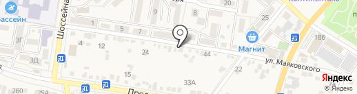 Дружок на карте Железноводска