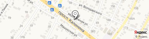 Ной на карте Пятигорска