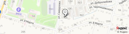 Курортюгстрой на карте Железноводска