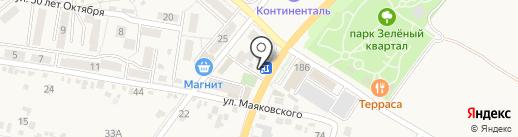 Шаурма на углях на карте Железноводска