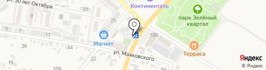 Раки №1 на карте Железноводска