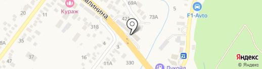 Магазин автозапчастей для ГАЗ на карте Пятигорска