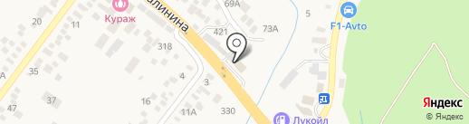 Левавто на карте Пятигорска