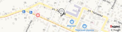 Почтовое отделение на карте Горячеводского