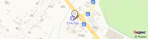 Автомойка на карте Пятигорска