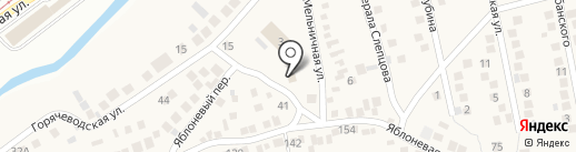 Горпо на карте Горячеводского