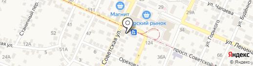 Окна БЕРТА-26 на карте Горячеводского