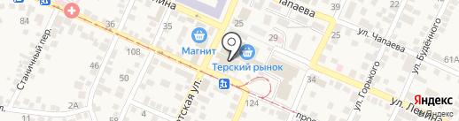 Поляна на карте Горячеводского