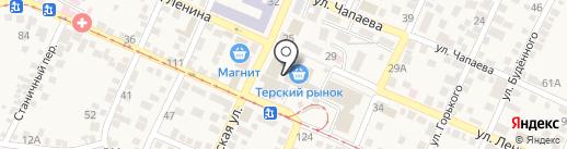 Банкомат, Ставропольпромстройбанк на карте Горячеводского