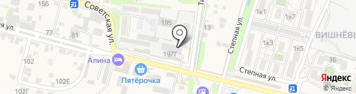 Дворик автомастеров на карте Железноводска