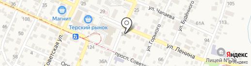 Магазин автозапчастей на карте Горячеводского