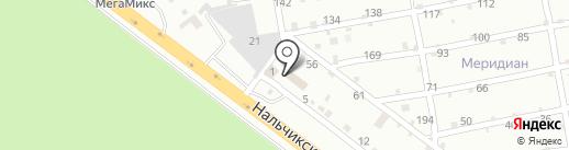 Эрсам на карте Пятигорска