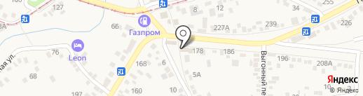 Логан на карте Горячеводского