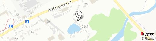 У озера на карте Пятигорска