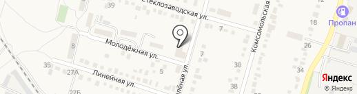 Снежана на карте Первомайского