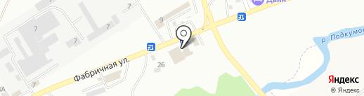 Магазин тканей и швейной фурнитуры на карте Пятигорска
