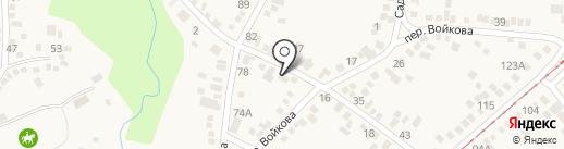 АВС на карте Горячеводского