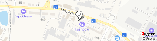 АЗС Газпром на карте Минеральных Вод