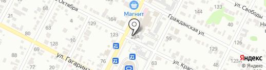 Шиномонтажная мастерская на ул.Ставропольской на карте Минеральных Вод