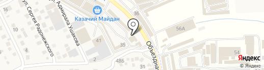 Теплый дом на карте Пятигорска