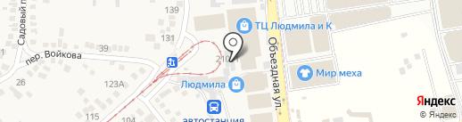 Аделика на карте Горячеводского