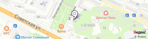 Детский сад №7, Ивушка на карте Минеральных Вод
