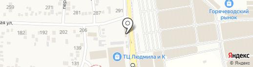 Валин-Текс на карте Горячеводского