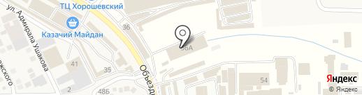 Акватория на карте Горячеводского