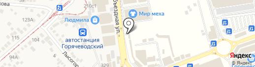 Ателье по ремонту одежды на карте Горячеводского