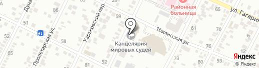 Мировые судьи г. Минеральные Воды и Минераловодского района на карте Минеральных Вод