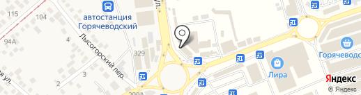 Магазин женской одежды на карте Горячеводского