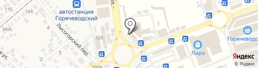 Оскар на карте Горячеводского
