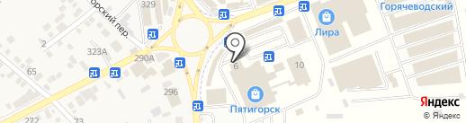 Пирамида-26 на карте Горячеводского