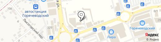 Джой на карте Горячеводского