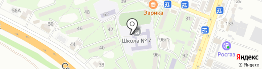 Средняя общеобразовательная школа №7 на карте Минеральных Вод