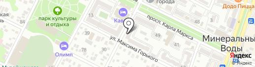 Адвокат Мельникова А.Ю. на карте Минеральных Вод