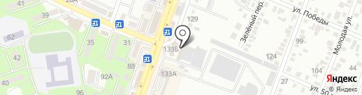 Минераловодское пассажирское автотранспортное предприятие на карте Минеральных Вод