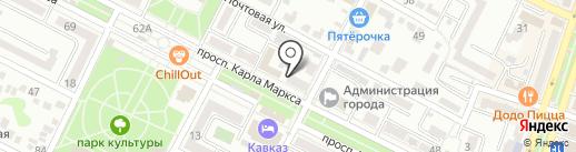 Коллегия адвокатов Ставропольского края на карте Минеральных Вод