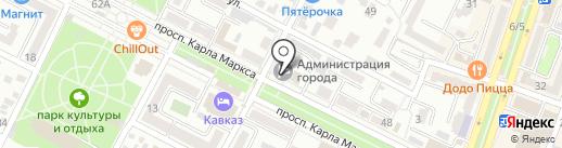 Администрация Минераловодского городского округа на карте Минеральных Вод