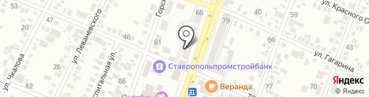Московский индустриальный банк на карте Минеральных Вод