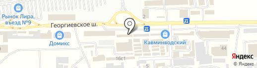Капитель на карте Пятигорска