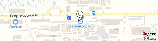 Карапуз на карте Пятигорска