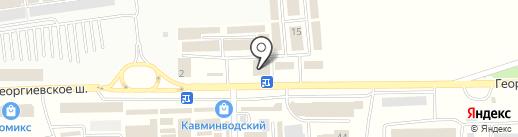 Ария КМВ на карте Пятигорска