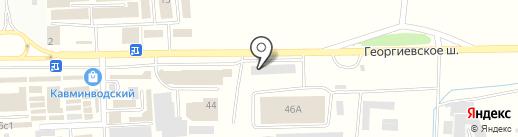 Дракоша на карте Пятигорска