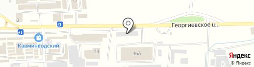 Магазин обоев на карте Пятигорска