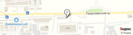 Scooter house на карте Пятигорска
