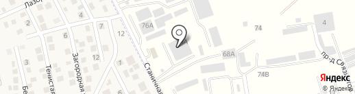 Горячеводский на карте Константиновской