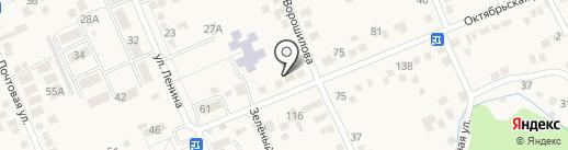 Магазин автотоваров на карте Константиновской